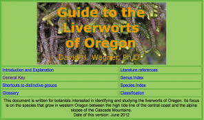 Guide to the Liverworts of Oregon