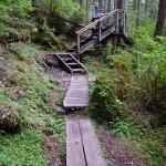 3 Steep steps on boardwalk